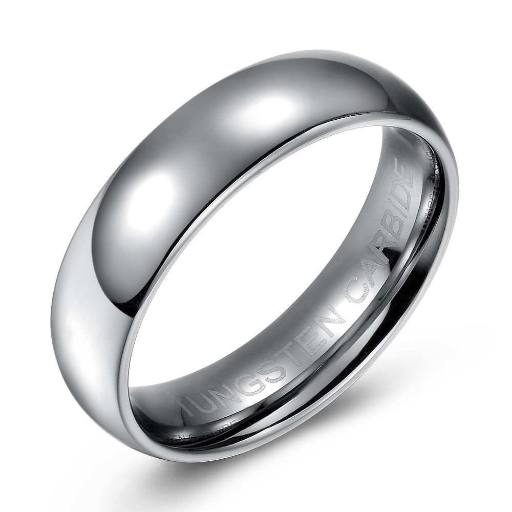 Simple and Elegant Tungsten Wedding or Fashion Band - 6.5mm