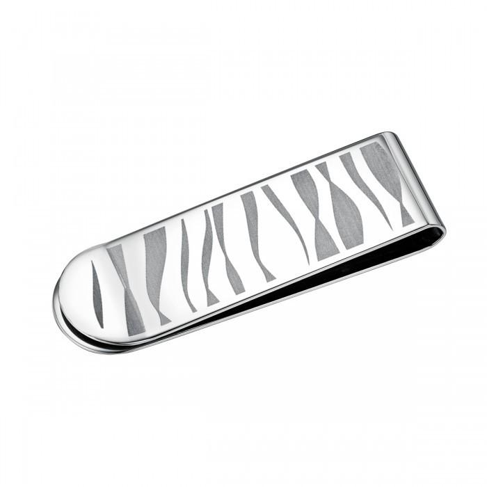 Zebra Stripe Stainless Steel Slim Money Clip
