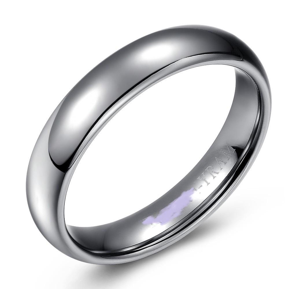 High Polished Domed Titanium Wedding or Fashion Band - 5MM