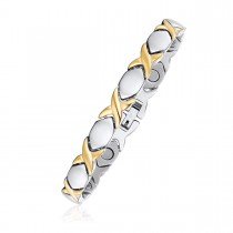 Two Toned XO Magnetic Therapy Bracelet