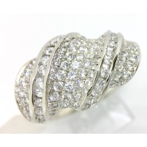 Sterling Silver Ladies Cocktail Ring