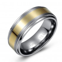 Two Tone Tungsten Wedding or Fashion Band