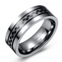 Tungsten Spinning Ring – Wedding or Fashion - Flat Edge