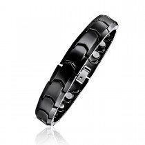 Black Ceramic Men's Magnetic Bracelet