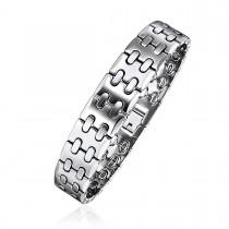 Stitched Tungsten Link Bracelet