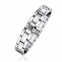 Contrasted Finish Brick Link Bracelet
