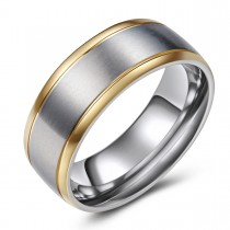 Two-Toned Hypoallergenic Titanium Ring