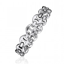 Dual Finish Mariner Link Bracelet