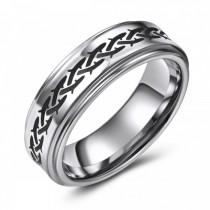 Barbed Wire design Tungsten Wedding or Fashion Ring