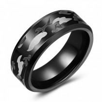 Camouflage Tungsten Wedding or Fashion Ring - 8MM