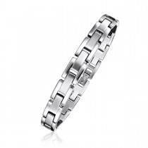 Dual Finish Brick Link Bracelet