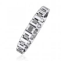 Textured Link Unisex Bracelet