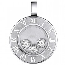 Beautiful Roman Numeral Clock Pendant – Cubic Zirconia