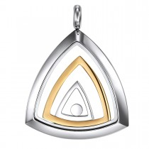 Two Toned Stainless Illuminati Eye of Providence Pendant