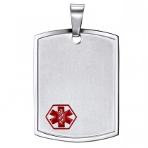 Stainless Steel Stadium Medical Tag - Engravable