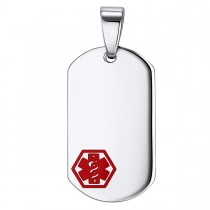 Stainless Steel Caduceus Medical Dog Tag - Engravable