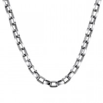6.0mm Rectangle Rolo Chain in Stainless Steel