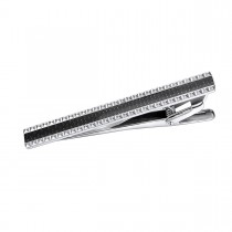 Handsome Stainless Steel Tie Bar with Carbon Fiber