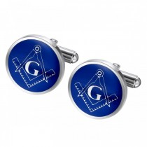 Masonic Fraternity Cufflinks in Stainless Steel