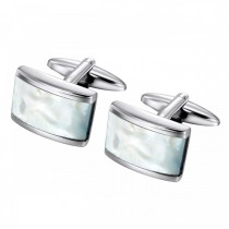 Beautiful Mother Of Pearl Stainless Steel Cufflinks