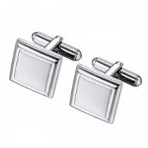 Square Geometric Stainless Steel Cufflinks