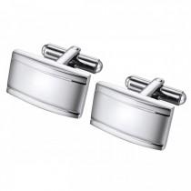 Subtle Horizontal Framed Stainless Steel Cufflinks