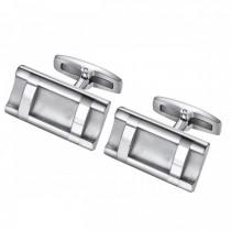 Ladder Style Stainless Steel Cufflinks
