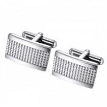 Textured Rectangle Stainless Steel Cufflinks