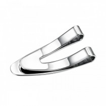 Sleek Curved V Stainless Steel Money Clip