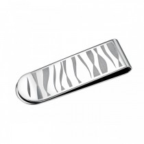 Zebra Stripe Stainless Steel Slim Money Clip