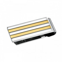 Stylish Two Toned Stainless Steel Money Clip