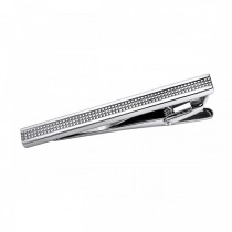 Dashing Grid Patterned Stainless Steel Tie Bar