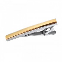 Two Toned Stunning Chic Tie Bar – Stainless Steel