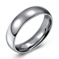 High Polished Domed Titanium Wedding or Fashion Band - 6MM