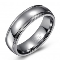 High Polished Domed Tungsten Wedding or Fashion Ring - 7MM