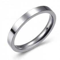 SIMPLE AND ELEGANT STAINLESS WEDDING OR FASHION BAND - 3MM