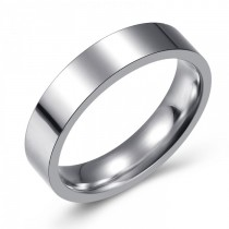 SIMPLE AND ELEGANT STAINLESS WEDDING OR FASHION BAND - 5MM