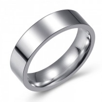 SIMPLE AND ELEGANT STAINLESS WEDDING OR FASHION BAND - 6MM