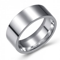 SIMPLE AND ELEGANT STAINLESS WEDDING OR FASHION BAND - 8MM
