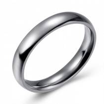 SIMPLE AND ELEGANT STAINLESS WEDDING OR FASHION BAND - 4MM