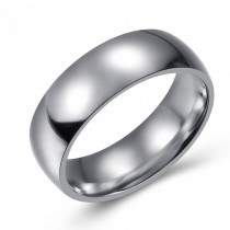 SIMPLE AND ELEGANT STAINLESS WEDDING OR FASHION BAND - 7MM