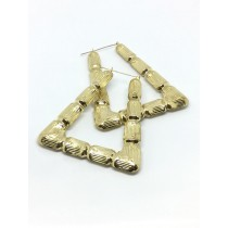 10k Bamboo Style Earrings