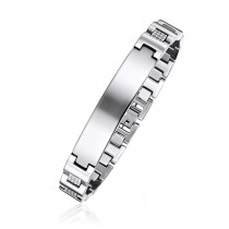 Textured Engravable High Fashion ID Bracelet