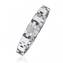 Puzzle Piece Link Tungsten Magnetic Therapy Bracelet