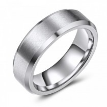 Beveled Edge Cobalt Wedding or Fashion Ring - 7mm