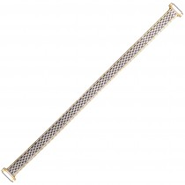 Two Tone Expansion Metal Watch Strap 8mm-11mm Spring Ends