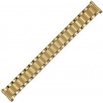 Yellow Expansion Metal Watch Strap 17mm-20mm Curved Spring Ends