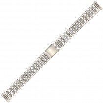 Stainless Steel Metal Buckle Watch Strap 14mm Straight End