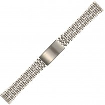 Stainless Steel Metal Buckle Watch Strap 18mm Straight End