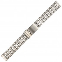 Stainless Steel Metal Long Buckle Watch Strap 18mm Straight End